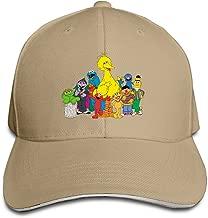 Cartoon Muppet Sesame Street Style Hats Sandwich Peaked Caps