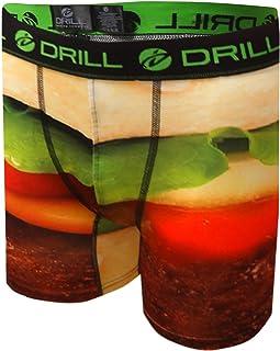 Drill Men's Big and Juicy Hamburger Performance Boxer Briefs
