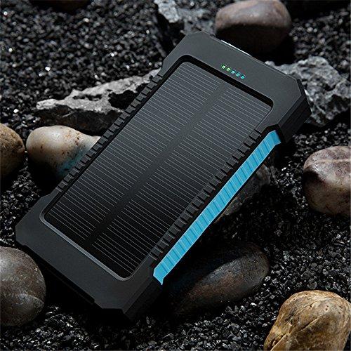 HOT Tragbare 30000mAh Power Bank Dual USB Kompakt Wasserdicht Leistungsstarker Externer Akku mit LED-Licht Solar Outdoor Ladegerät mit Haken