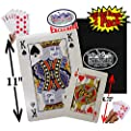 "Matty's Toy Stop Novelty Playing Cards Large (6.75"" x 4.75"") & Extra Large (11"" x 8"") Deluxe Gift Set Bundle with Bonus Storage Bag - 2 Pack"