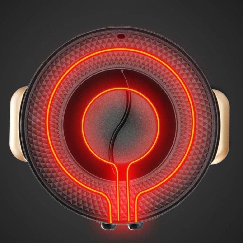 Qwees Multi Cuisinière, électrique Poêle avec couvercle en verre, 32cm Non Stick avec Cool Touch Poignées et revêtement en céramique 2200W (Color : Black-43cm) Goldenroundpot-49cm