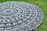 Beliebtes Kunsthandwerk schwarz & weiß Hippie Wandteppiche Mandala Beach Überwurf Art Wand Bohemian tapestrywall Aufhängen Boho Wandteppiche Tagesdecke, baumwolle, schwarz / weiß, 70