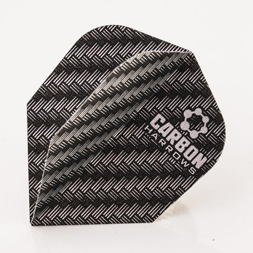 Harrows Carbon Flights Grau 100 Micron, 3er Set