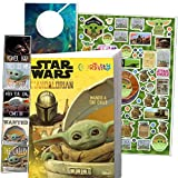 Star Wars Mandalorian Coloring Book Set with Baby Yoda Stickers and Specialty Door Hanger(Star Wars Classic)