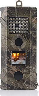 Wosports Trail Camera, 2019 Upgraded 1080P Hunting Game Camera, Waterproof Wildlife Camera with 850nm IR LEDs Night Vision 50ft for Home Security Wildlife Monitoring, Black