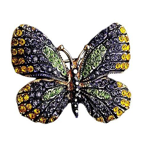 Colorful Bijoux Shine Broches Papillon breastpin femme strass Broche Pins