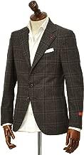 [ISAIA【イザイア】] シングルジャケット 8551Y 450 8C SAILOR セイラー ウール ウィンドペーン ブラウン × ネイビー
