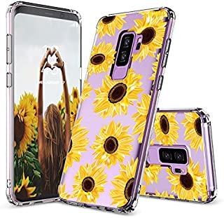 Galaxy S9 Plus Case, Galaxy S9 Plus Clear Case, MOSNOVO Sunflower Floral Flower Pattern Printed Clear Design Plastic Back Case with TPU Bumper Case Cover for Samsung Galaxy S9 Plus