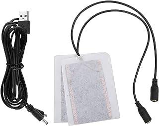 Dilwe Uppvärmningsplatta set, bärbar 5 V kolfiber värmepanna USB värmepanna elektrisk feber värmematta lämplig för handska...