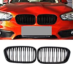 Soyeah ABS Front Replacement Kidney Grille Grill Compatible for BMW 1 Series F20 Glossy Black Double Line
