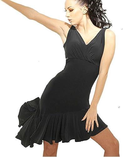 Xueyanwei Femmes Classique Latin Danse Jupe Latine Danse Robe Frange Paillettes Glands Robe De Danse Compétition Perforhommece Costume,noir,XL