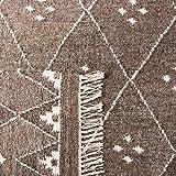 Safavieh Natürlicher Kelim-Teppich, NKM316, Flachgewebter Wolle Läufer, Braun / Elfenbein, 68 x 182 cm - 7