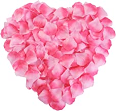 Silk Rose Petals Flower Red for Wedding Proposal Decorations 2000PCS by NewStarFire (Pink)