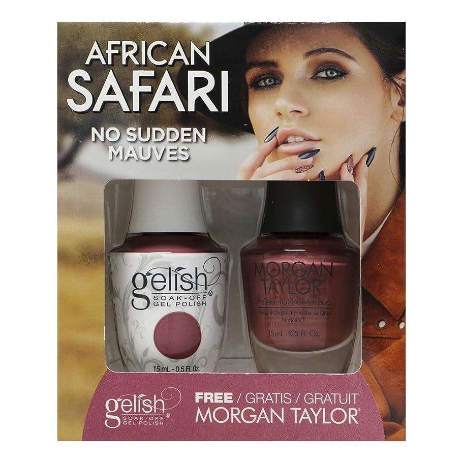 衰える乳白色固めるGelish - Two of a Kind - African Safari Collection - No Sudden Mauves