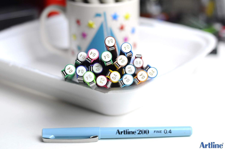 Artline 200 Feutres fins pour dessin technique Noir
