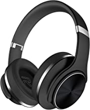 Bluetooth Headphones Over Ear, DOQAUS 45 Hrs Playtime Deep Bass Hi-Fi Stereo Wireless Noise Cancelling Headset, Foldable,3 EQ Modes,Comfortable Earmuffs w/Built-in Mic Wired Mode for PC/Cell Phones/TV