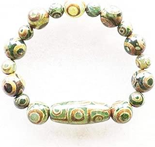 Hot!!! Approx Prayer Mala Tibetan Mystical Agate Dzi 18 Eyes Beads DIY Necklace Gift