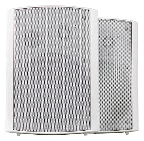 Pronomic USP-660 WH HiFi Wandlautsprecher Paar - 2-Wege Lautsprecher Boxen im Set - Ideal für Gastronomie und Terasse - inklusive Wandhalterung zur Befestigung - 240W Leistung - weiß