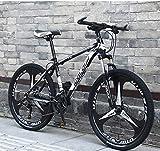 xiaoyan Hybrid Bikes Mens Bicycle Mountain Bike Hybrid Trekking Road Commuter Sports Bike 24 Speed Mens...