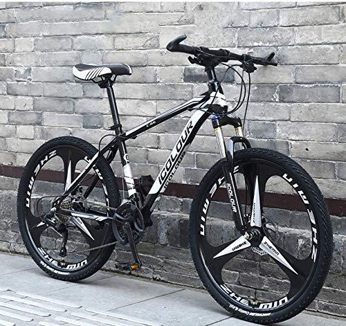 xiaoyan Bikes Híbridas para hombre Bicicletas de montaña Híbridas Trekking Road Commuter Sports Bike 24 velocidades para hombre Frenos de disco hidráulicos ligeros, ecológicos de la ciudad