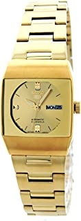 Seiko 5 Automatic Women's Gold Dial Stainless Steel Band Watch - SYM632J1