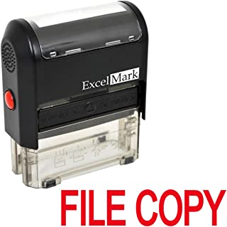 File Copy Self Inking Rubber Stamp - Red Ink