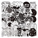 50PCS Black and White VSCO Aesthetic Stickers Pack-Vinyl Waterproof Stickers for Water Bottle,Skateboard,Tablet,Luggage,Phone,Notebook,Trendy Aesthetic Decals Sticker for Teens Girls Kids