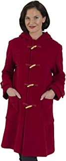 Coat Man 3/4 Length Traditional Duffle Coat with Wooden Toggles