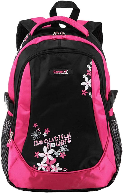 CJH Backpack Female Leisure Travel Backpack Big High School Student Bag Primary School Junior High School Student Bag