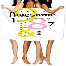 Bath Towel Beach Towel Comfortable Quick Drying Bath Towels for Home Bathroom Pool and Gym 80 X 130CM Awesome Slogan Texti...