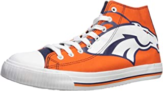 FOCO NFL Mens High Top Big Logo Canvas Shoes