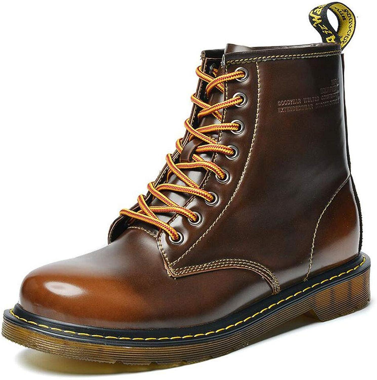 Högklassiga skor för herrskor herrskor herrskor för läderskor Stora Huvudverktygsskor vid vinterns höst (färg  bspringaaa, Storlek  40 EU)  välkommen att köpa