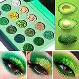 Ombretto vegan High label a pigmento privato senza crudeltà DE'LANCI Glitter & Matte 15 colori Palette di ombretti verdi