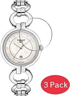 VacFun 3 Piezas Vidrio Templado Protector de Pantalla para Tissot Flamingo T094.210.11.116.00, 9H Cristal Screen Protector Alta Definición Película Protectora Reloj Inteligente Smartwatch Pulsera