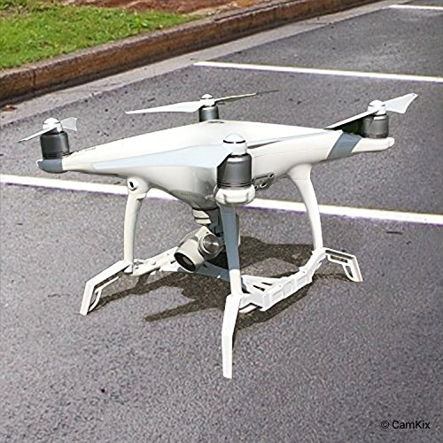 CamKix Landegestell-Erweiterungen/Stabilisatoren und Gimbal-Schutzblech Kompatbel mit DJI Phantom 4 Pro/Pro Plus/Advanced - Gibt Ihrer Drohne zusätzliche Stabilität, ermöglicht weichere Landung