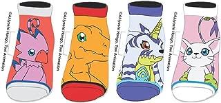 Digimon Youth Ankle Socks Child Agumon Gabumon Gatomon Biyomon Anime 4 PAIRS