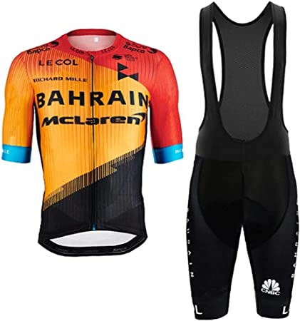 New Mens Team Cycling Jersey And Bib Shorts Kits Bicycle Tops Short Sleeve Suit