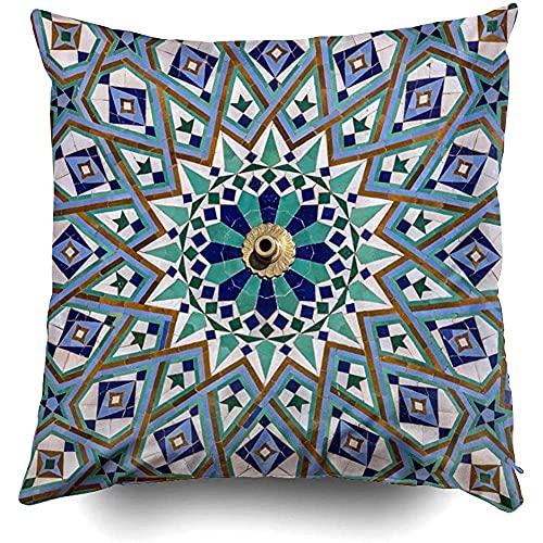 IUBBKI 1 funda de almohada de 45,7 x 45,7 cm, fundas de almohada para sofá, abstracción, fondo Bali blusa, boho, lona, alfombra de tela, decoración de cortina