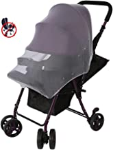 Mosquito Net, Baby Mosquito Net for Strollers, Car Seats, Cribs, Bassinets, Playpens, Infant Bug Protection Toddler Insect Netting(White)