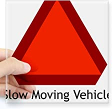 "CafePress Slow Moving Vehicle Sign Rectangle Sticker Square Bumper Sticker Car Decal, 3""x3"" (Small) or 5""x5"" (Large)"