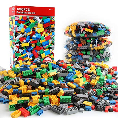 HULG Lego, Children's Building Block Gift, 1000 Piece Building Block Set, Compatible with All Major Brands (1000 PCS)