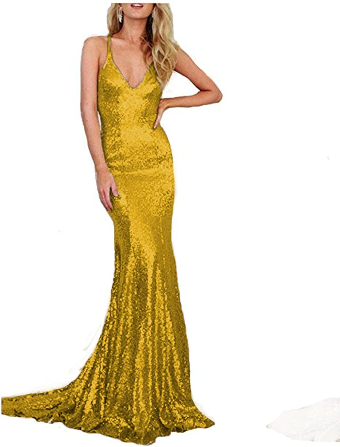 Beautydress Sexy Sheath Mermaid Sequins Prom Party Dress for Women BP071