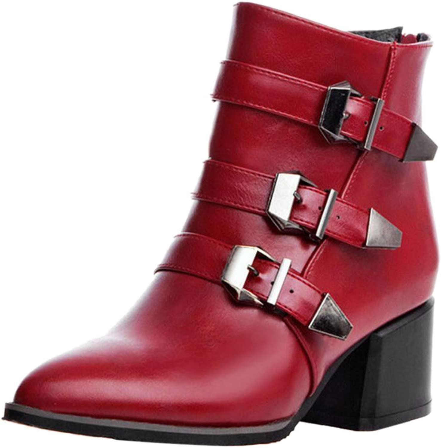 FizaiZifai Women Fashion Boots Back Zipper