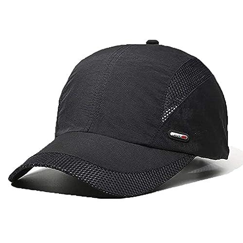 LAOWWO Baseball Cap Golf Tennis Sun Cap Hat Men Women Cool Sport Outdoor  Quick Dry Lightweight a243bb8e21fc