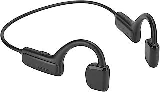 Auricular de conducción ósea, auricular inalámbrico Bluetooth 5.1 con gancho para la oreja con micrófono Auriculares deportivos estéreo impermeables para escuchar, andar en bicicleta, correr, gimnasio