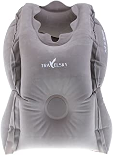 Prettyia Inflatable Travel Pillow Flight Airplane Neck Pillow Camping