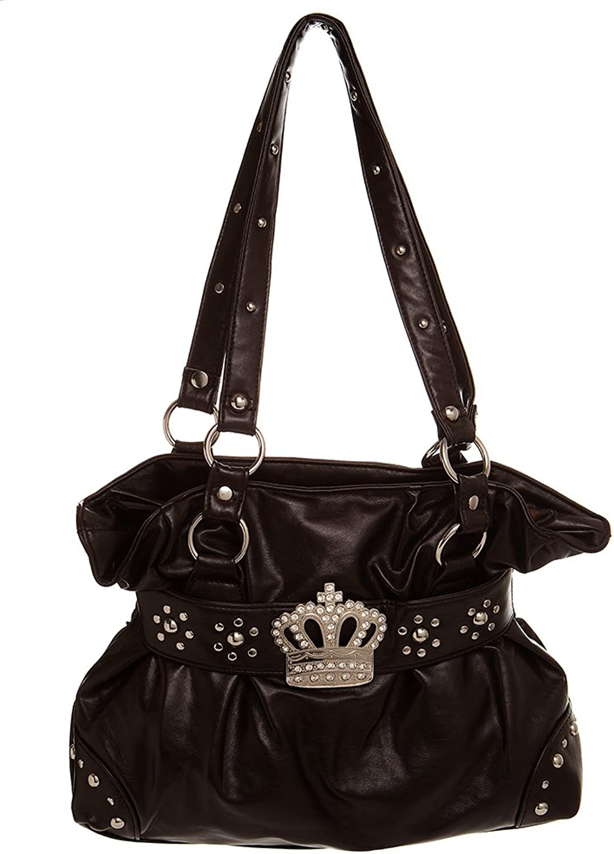 Medium Crown Inspired Studded Hobo women handbag Shoulder Handbag by Handbags For All