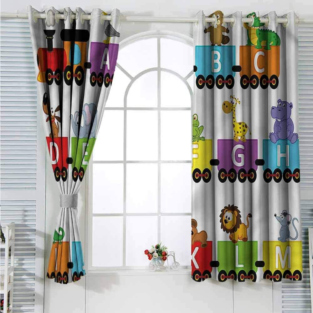 Grommet Creative Blackout Curtains Train Alphabet Anima Direct sale of manufacturer Carriage Ranking integrated 1st place