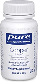Pure Encapsulations - Copper (Citrate) - Highly Bioavailable Form of Copper - 60 Capsules