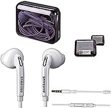 Samsung - Funda para auriculares in-ear estéreo,manos libres, en color blanco, para teléfonos móviles compatibles con clavija de 3,5mm